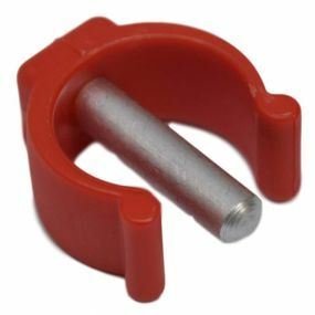Replacement Horseshoe Clips For Rebotec - Ergonomic Soft Grip Coloured Crutches (Red)