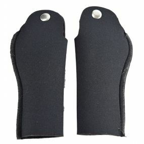 Deluxe Crutch Handle Sleeves For Ergonomic Handles - Black