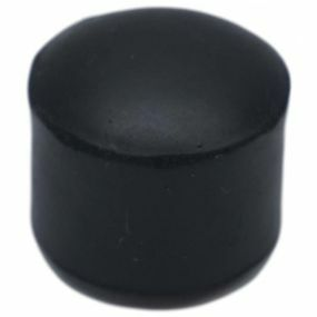 Domed Ferrules (B Type) - Black, Size: 25mm (1 inch)
