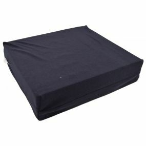 Thorpe Mill Castellated Standard Foam Towelling Cover Wheelchair Cushion - Blue (17x16x4