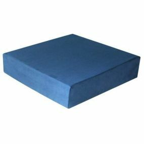Harley Proform Convoluted Suedette Cover Cushion - Blue (17x17x3