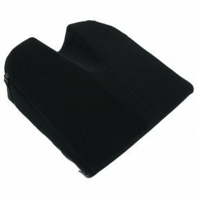 Putnams 11° Coccyx cut-out Velour Cover Wedge Cushion - Black (14x14x3