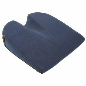 Putnams 11° Coccyx cut-out Velour Cover Wedge Cushion - Blue (14x14x4