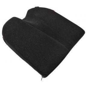 8° Coccyx cut-out Velour Cover Wedge Cushion - Black (14x14x3