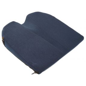 Putnams 8° Coccyx cut-out Velour Cover Wedge Cushion - Blue (14x14x3