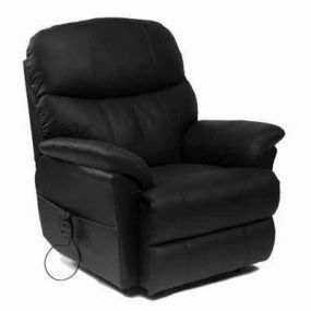 Lars Rise & Recline Armchair - Black (Single Motor)