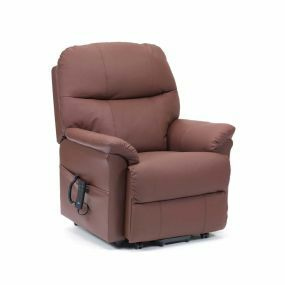 Lars Rise & Recline Armchair - Burgundy (Single Motor)