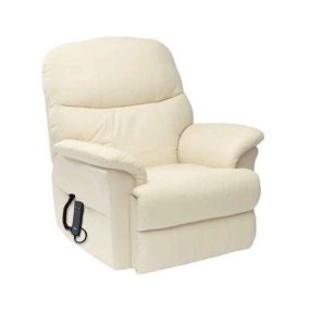 Lars Rise & Recline Armchair - Cream (Single Motor)