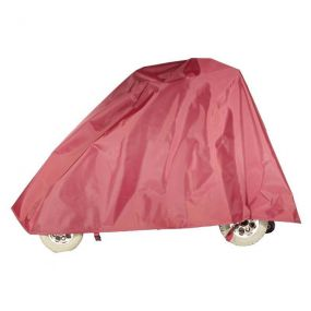 Shaped Lightweight Mobility Scooter Cover - Burgundy (Large)