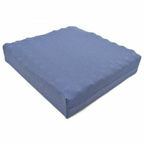 Putnams Sero Pressure Coccyx cut-out Convoluted Stockinette Cover Cushion - Blue (16.5x16x4