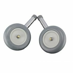 Mobility Smart Zimmer Frame Wheels (Pair) - Straight Holes (MODEL 2012)