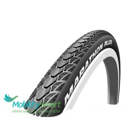 Schwalbe - Marathon Plus Wheelchair Tyre Grey/Black - 22 X 1 (25 x 489)