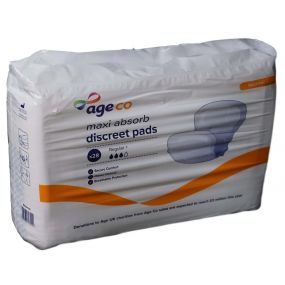 Age UK Maxi Absorb Discreet Shaped Pads - Female (1PK)