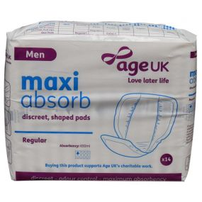 Age UK Maxi Absorb Discreet Shaped Pad - Male (1PK)