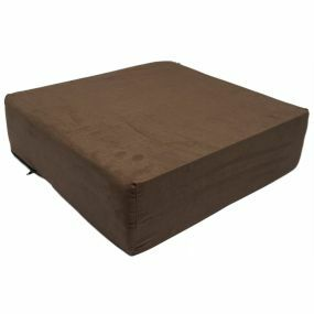 Harley Suedette Cover Booster Cushion - Brown (18x18x5