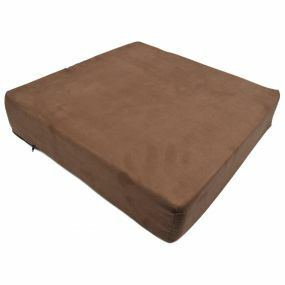 Harley PU Foam Suedette Cover Booster Cushion - Brown (20x20x4