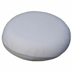 Sissel Towelling Cover Ring Cushion - White (17x19