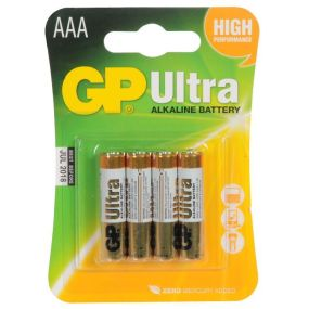 GP Ultra Alkaline Batteries - Type AAA (4PK)