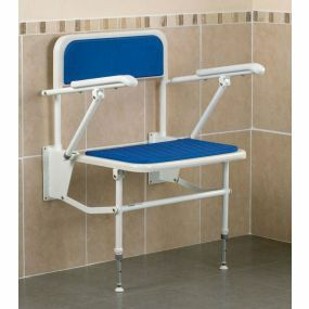 Extra Wide Shower Seat With Legs, Back & Arms