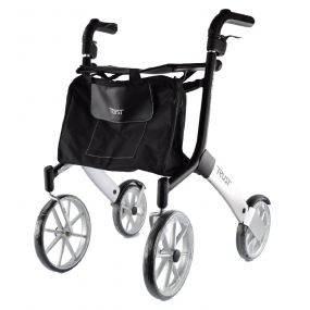 Lets Go Out Rollator - Black and Silver