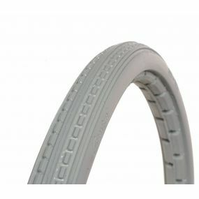 GreenTyre - Solid Grey Wheelchair Tyre - 24 X 1 3/8 (37 x 540)