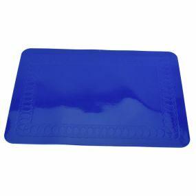 Tenura Silicone Regtangular Rubber Anti Slip Mat (35.5cm x 25.5cm) Blue