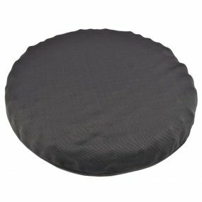 Putnams Sero Pressure Round cut-out Convoluted Stockinette Cover Ring Cushion - Black (17x3