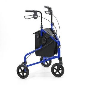 Lightweight Aluminium Folding Tri Walker (With Bag) - Blue