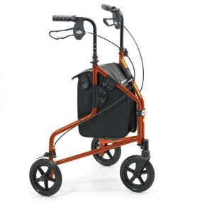 Lightweight Aluminium Folding Tri Walker (With Bag) - Orange