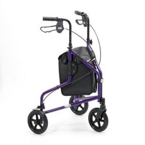 Lightweight Aluminium Folding Tri Walker (With Bag) - Purple