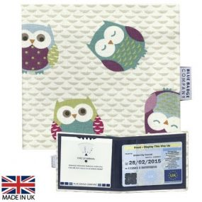 Cloth Blue Badge Wallet - Twit Twoo