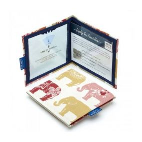 Cloth Blue Badge Wallet - Nelly Elephant