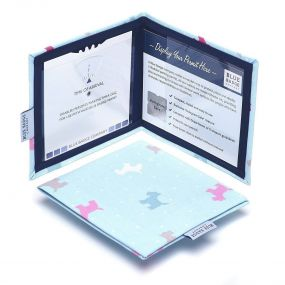 Cloth Blue Badge Wallet - Dotty Scotties