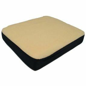 Aidapt Gel Fleece Cover Cushion - White (17x14x3