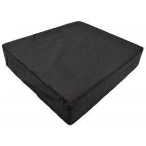 Aidapt Memory Foam Cotton Cover Wheelchair Cushion - Black (18x16x4