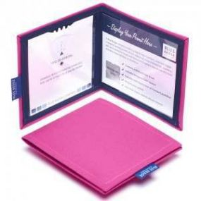 Cloth Blue Badge Wallet - Pink Panama