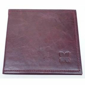 Leather Blue Badge Timer Wallet - Cordovan Creek