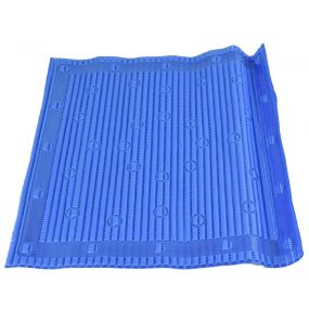 Antimicrobial Slip Resistant Shower Mat - Blue