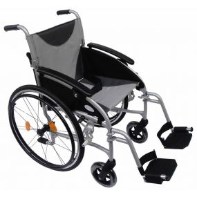 Lightweight Folding Aluminium Self Propelled Wheelchair - Silver (18