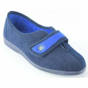 Amy - Wide Fitting Slippers  Size 3 (Navy)
