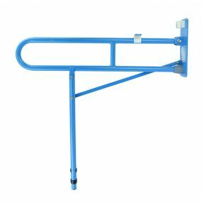 Solo Toilet Support Rail With Leg - Blue
