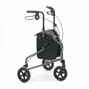 Lightweight Aluminium Folding Tri Walker (With Bag) - Quartz