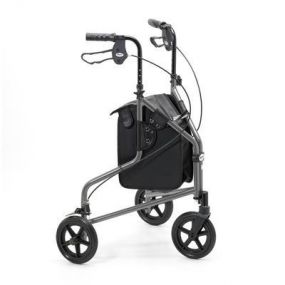 Lightweight Aluminium Folding Tri Walker (With Bag) - Graphite