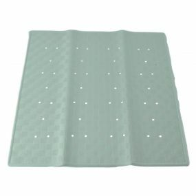 Traditional Rubber Shower Mat - Green (54x54cm)