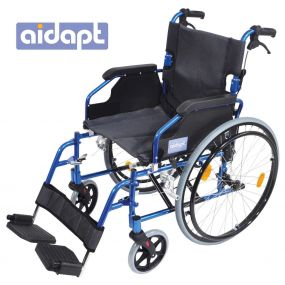 Deluxe Lightweight Self Propelled  Aluminium Wheelchair - Blue