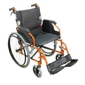 Deluxe Lightweight Self Propelled Aluminium Wheelchair - Orange