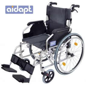 Deluxe Lightweight Self Propelled Aluminium Wheelchair - Silver