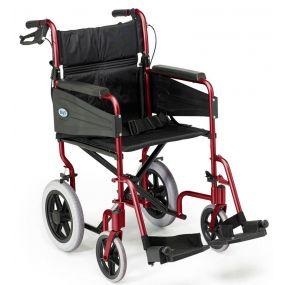 Escape Lite Lightweight Wheelchair - Red - Narrow