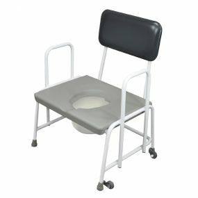 Bariatric Commode - Fixed Arms - Adjustable Height