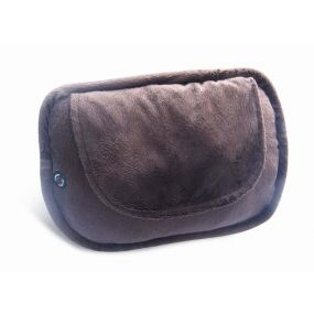 4 Ball Shiatsu Heated Cushion with Brown Plush Cover